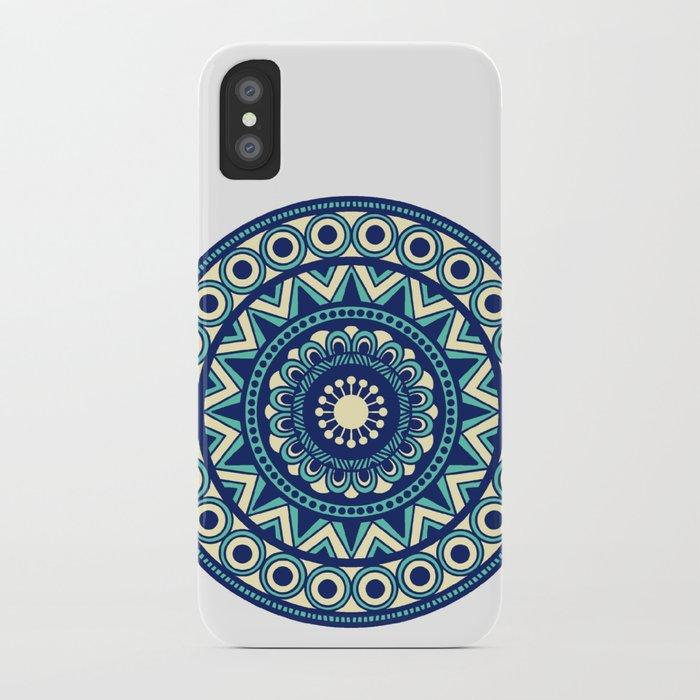 sale retailer f80e8 fda75 Mandala Marimekko Style Acqua and Blue iPhone Case