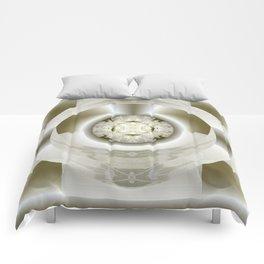 Hub Cap Art in Crystal Sepia Comforters