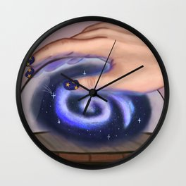 Space in the bottle Wall Clock