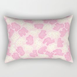 Frosted Animal Cookies on Pink Rectangular Pillow