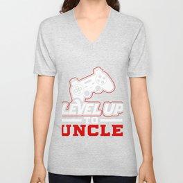 Leveled Up To Uncle product, Gamer design, Uncle Tee Unisex V-Neck