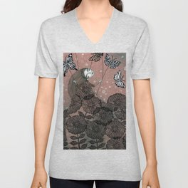 Night Garden (1) Unisex V-Neck