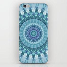 Turquoise and Navy Mandala iPhone Skin