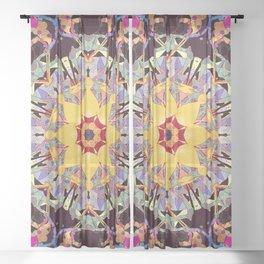 Colorful Flower Mandala Sheer Curtain