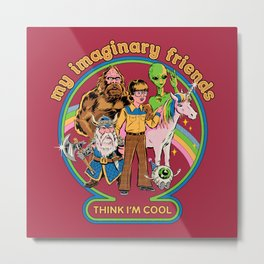 My Imaginary Friends Metal Print