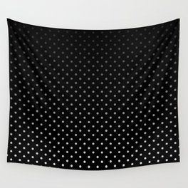 Mini Licorice Black with Faded White Polka Dots Wall Tapestry