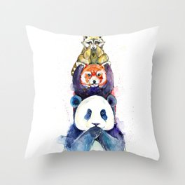 Pandamonium Throw Pillow