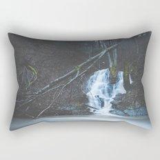 Emerging waterfall after the flood Rectangular Pillow