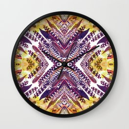 Pink Feathers - Mirrored print Wall Clock
