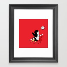 Flying Penguins Framed Art Print