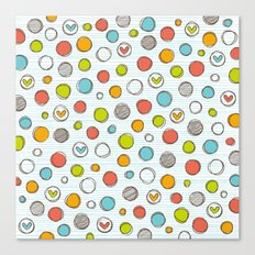 Another pattern with hearts. Canvas Print