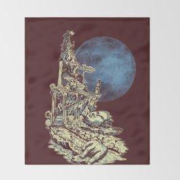 Moonlit Tower Throw Blanket