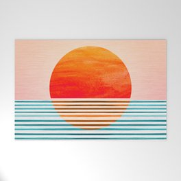 Minimalist Sunset III / Abstract Landscape Welcome Mat