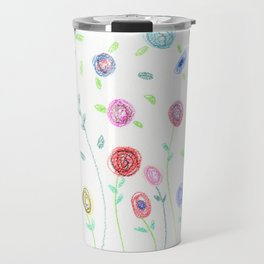 Doodle: blossoms Travel Mug