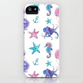 Watercolor Sea Life iPhone Case