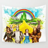 oz Wall Tapestries featuring Sphynx goes to OZ by Psyca