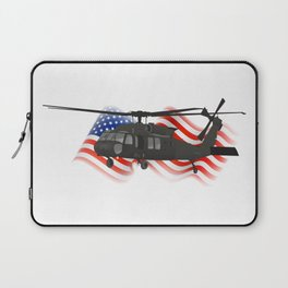 Patriotic UH-60 Military Helicopter Laptop Sleeve