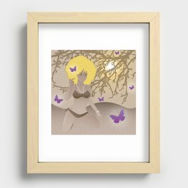 Madame Butterfly Recessed Framed Print