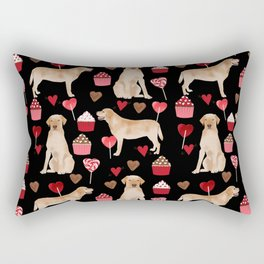 Yellow Lab valentines day hearts cupcakes cute labrador retriever Rectangular Pillow