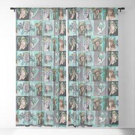 Greens Sheer Curtain