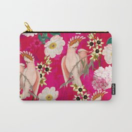 Vintage & Shabby Chic - Tropical Bird Flower Garden Carry-All Pouch