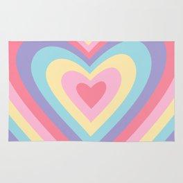 Colorful rainbow hearts Rug