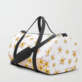Lillies - Handpainted pattern - white background Duffle Bag