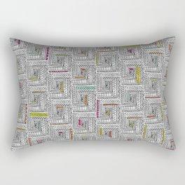 Log Cabin Pattern Rectangular Pillow