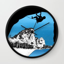 Rock climbing Thailand Wall Clock