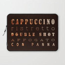Coffee Types Poster Laptop Sleeve