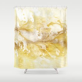 Golden Marble Abstract II Shower Curtain
