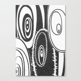 Clearly Ovals Canvas Print