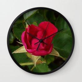 Tiny Rose Square Wall Clock