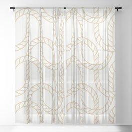 Marina Gold Sheer Curtain