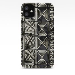 Tribal mud cloth pattern iPhone Case