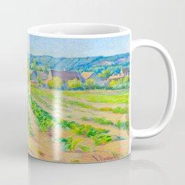 Václav Radimský (1867-1946) Cabbage Fields near Vernon Modern Impressionist Oil Painting Colorful Coffee Mug