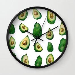 avacado white Wall Clock