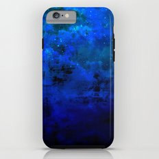 SECOND STAR TO THE RIGHT Rich Indigo Navy Blue Starry Night Sky Galaxy Clouds Fantasy Abstract Art iPhone 6 Tough Case