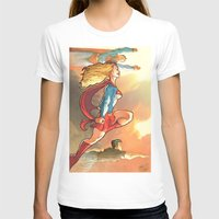 supergirl T-shirts featuring Super Family - Superman SuperGirl and SuperBoy by Brian Hollins art