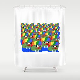 Clown Pepe Group - Honk Honk Group - Clown Pepe Honk Honk - Meme Shower Curtain
