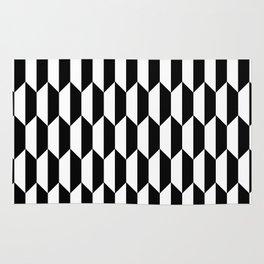 Black Quadrilateral - Baby Stimulation Pattern Rug
