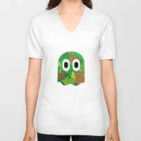 camo V-neck T-shirts featuring Camo Blinky by Andreas Spyropoulos