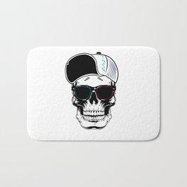White Art Stylish Skull Bath Mat