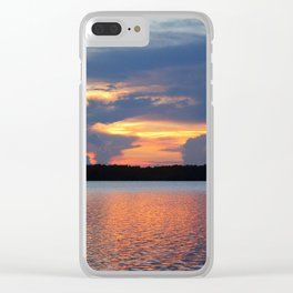 Glowing Sky Clear iPhone Case