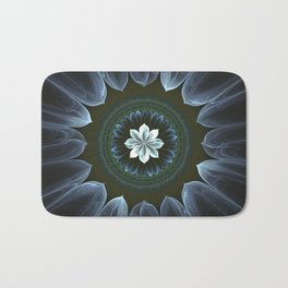 Blossom Within in White Bath Mat