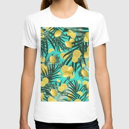 Summer Lemon Twist Jungle #1 #tropical #decor #art #society6 T-shirt