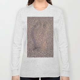 trace in the sand Long Sleeve T-shirt