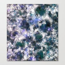 The silent blue decay Canvas Print