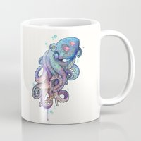 octopus Mugs featuring octopus  by Laura Graves