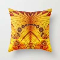 pyramid Throw Pillows featuring Pyramid by Christine baessler